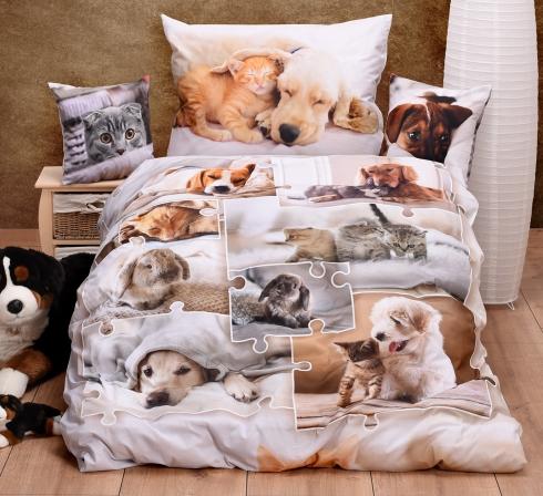 Obrazová posteľná súprava s motívom MAZNÁČIKOVIA