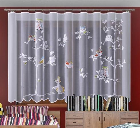 Detská žakárová záclona s farebnými motívmi