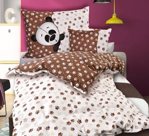 Obrazová posteľná súprava bavlna PANDA