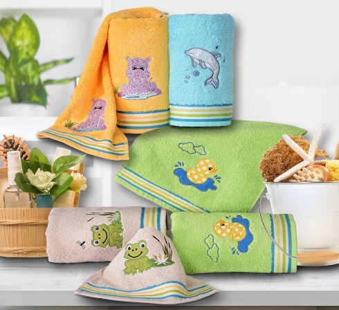 Kolekcia detských uterákov s originálnou výšivkou